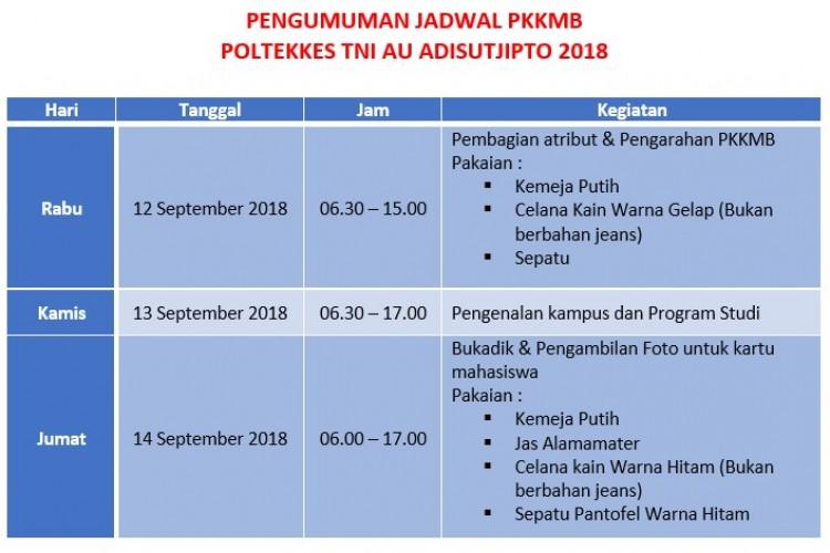 Pengumuman Jadwal PKKMB
