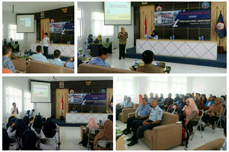 "Seminar Mandiri Poltekkes TNI AU Adisutjipto ""Pengelolaan Limbah Laboratorium"""